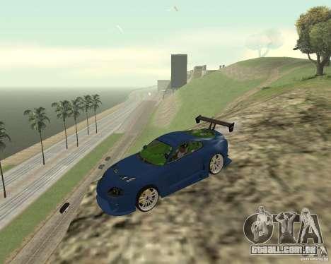 Toyota Supra TwinTurbo para GTA San Andreas vista superior