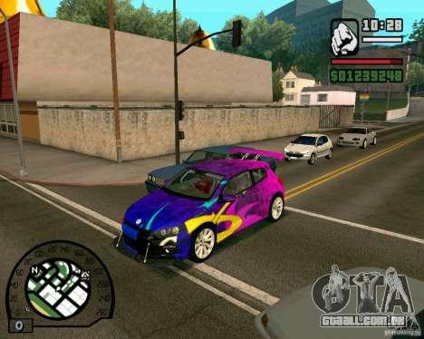 Volswagen Scirocco para GTA San Andreas esquerda vista