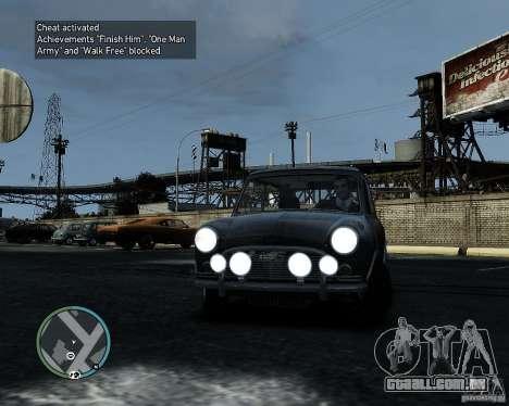 Austin Mini Cooper S para GTA 4 esquerda vista