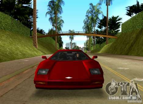 Infernus BETA para GTA Vice City vista traseira