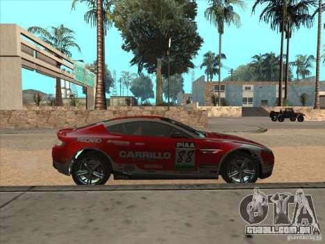 Aston Martin v8 Vantage n400 para GTA San Andreas vista direita
