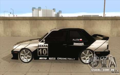 BMW E30 M3 - Coupe Explosive para GTA San Andreas esquerda vista
