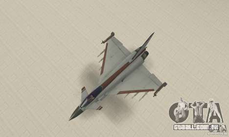 EF-2000 Typhoon V1.3 para vista lateral GTA San Andreas
