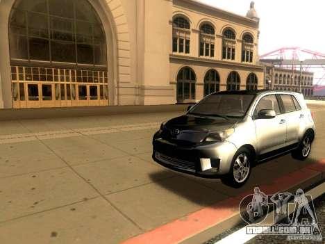 Scion xD para GTA San Andreas traseira esquerda vista