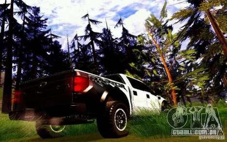 Ford Raptor Crewcab 2012 para GTA San Andreas vista direita