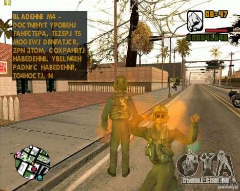 Piloto de COD4 para GTA San Andreas segunda tela