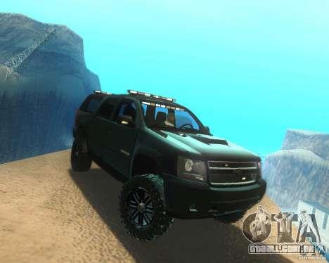 Chevrolet Suburban Crankcase Transformers 3 para GTA San Andreas vista direita