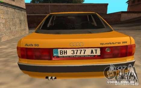Audi 90 Quattro 20V para GTA San Andreas esquerda vista