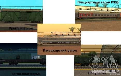 FERROVIÁRIA mod II para GTA San Andreas segunda tela