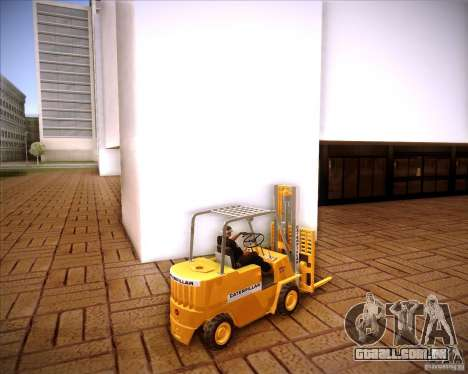 Caterpillar Torocat para GTA San Andreas esquerda vista