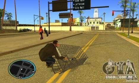 Shopping Cart Faggio V2 para GTA San Andreas traseira esquerda vista