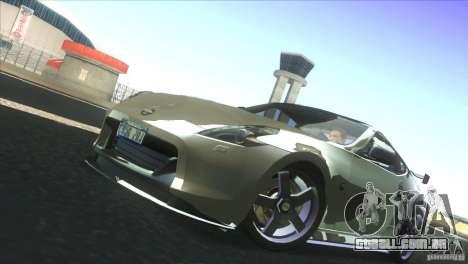 Nissan 370Z Drift 2009 V1.0 para GTA San Andreas vista interior