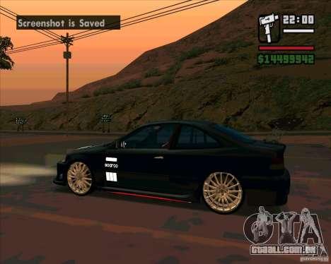Honda Civic Tuned (corrigido) para GTA San Andreas esquerda vista
