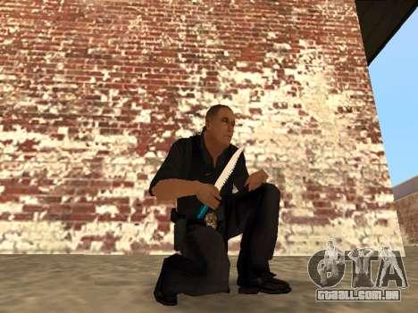 Chrome and Blue Weapons Pack para GTA San Andreas décima primeira imagem de tela