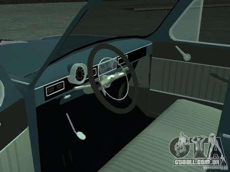 Moskvich 407 para GTA San Andreas vista traseira