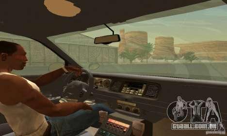 Ford Crown Victoria Wyoming Police para GTA San Andreas traseira esquerda vista