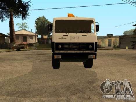 MAZ 54323 REBOQUE para GTA San Andreas vista traseira