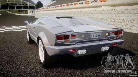 Lamborghini Countach para GTA 4 traseira esquerda vista