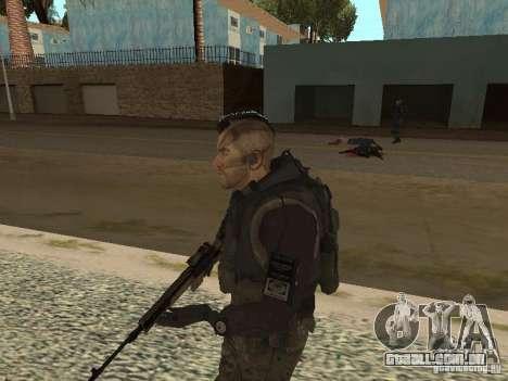 Captain MacTavish para GTA San Andreas por diante tela