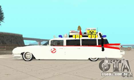 Ghostbusters ECTO 1 para GTA San Andreas vista direita