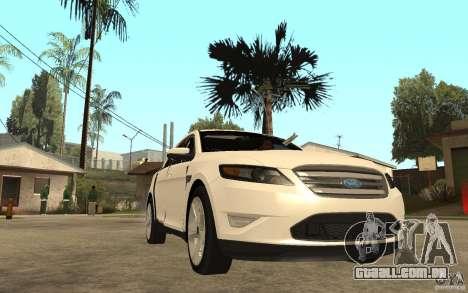 Ford Taurus 2010 para GTA San Andreas vista traseira