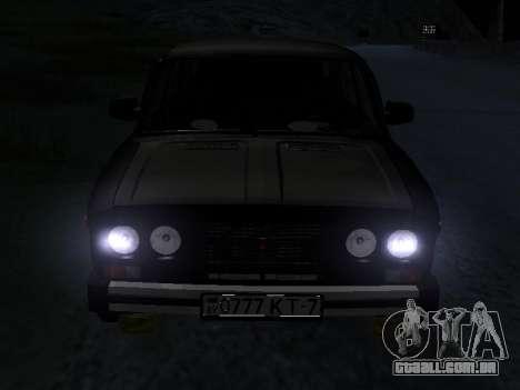 21065 v 2.0 VAZ para GTA San Andreas vista interior