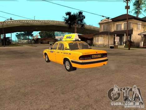 Volga GAZ-31105 táxi para GTA San Andreas traseira esquerda vista