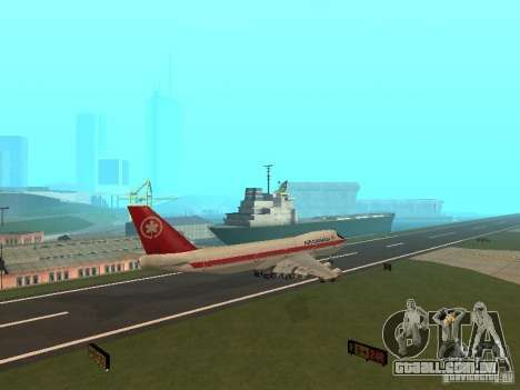 Boeing 747 Air Canada para GTA San Andreas vista traseira