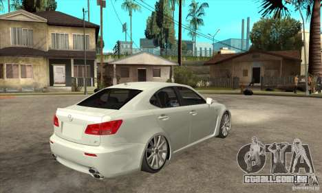 Lexus IS F 2009 para GTA San Andreas vista interior