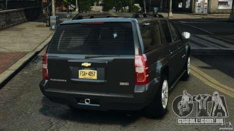Chevrolet Suburban GMT900 2008 v1.0 para GTA 4 traseira esquerda vista