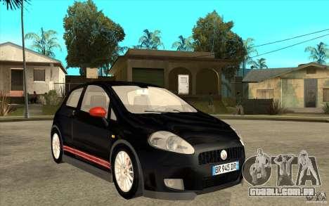 Fiat Grande Punto 3.0 Abarth para GTA San Andreas vista traseira