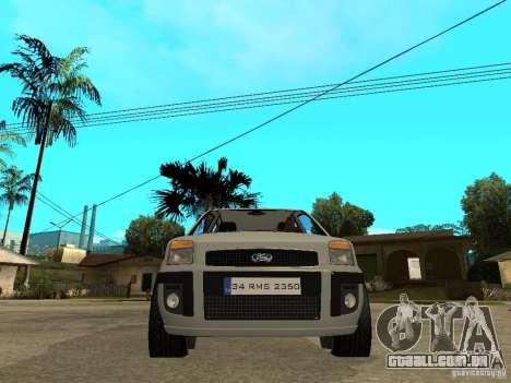 Ford Fusion 2009 para GTA San Andreas vista direita