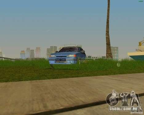 Lada Samara 3doors para GTA Vice City vista traseira esquerda