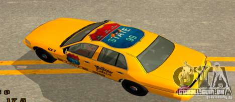 Ford Crown Victoria 2003 Taxi for state 99 para GTA San Andreas traseira esquerda vista
