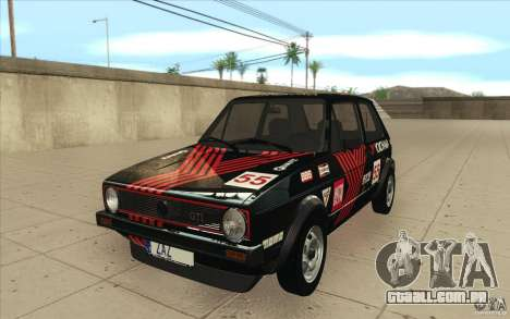 Volkswagen Golf Mk1 - Stock para GTA San Andreas vista inferior