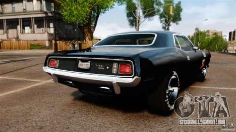 Plymouth Cuda 1971 [EPM] Mopar para GTA 4 traseira esquerda vista