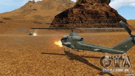 Bell AH-1 Cobra para GTA 4 vista interior