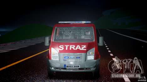 Ford Transit Polish Firetruck [ELS] para GTA 4 vista superior