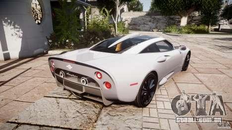 Spyker C8 Aileron v1.0 para GTA 4 vista direita