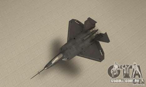 YF-22 Black para GTA San Andreas vista direita
