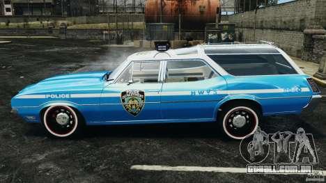 Oldsmobile Vista Cruiser 1972 Police v1.0 [ELS] para GTA 4 esquerda vista