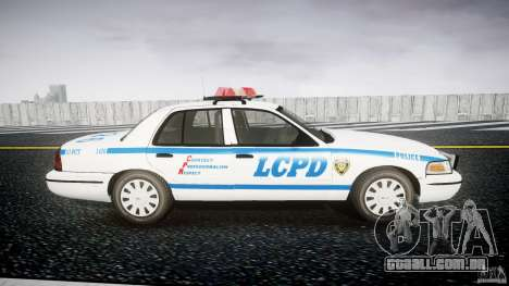 Ford Crown Victoria Police Department 2008 LCPD para GTA 4 vista de volta