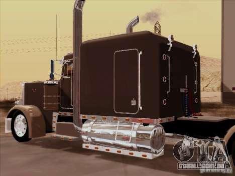 Peterbilt 359 Custom para GTA San Andreas vista traseira