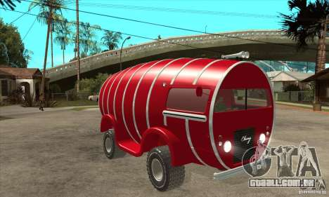 Beer Barrel Truck para GTA San Andreas vista traseira