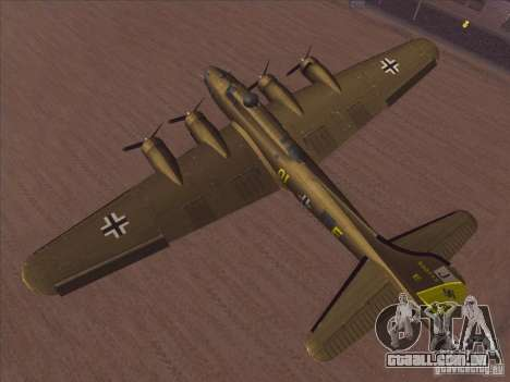 B-17G Flying Fortress para GTA San Andreas vista direita