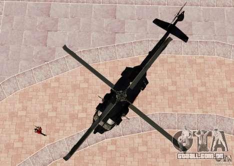 MH-60K Black Hawk para GTA 4 vista de volta