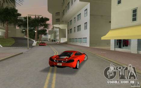Mclaren MP4-12C para GTA Vice City vista direita