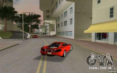 Mclaren MP4-12C para GTA Vice City vista direita