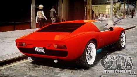 Lamborghini Miura P400 1966 para GTA 4 vista direita