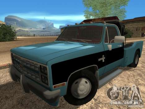 Chevrolet Towtruck para GTA San Andreas esquerda vista